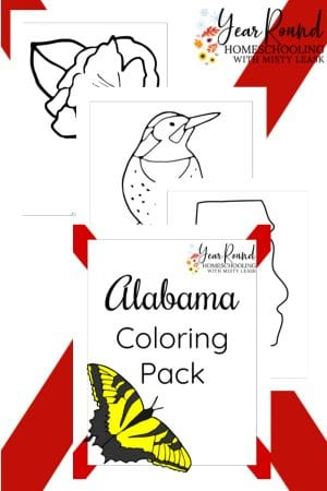 Alabama Coloring Pages Pack