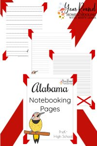 alabama notebooking pages, alabama notebooking