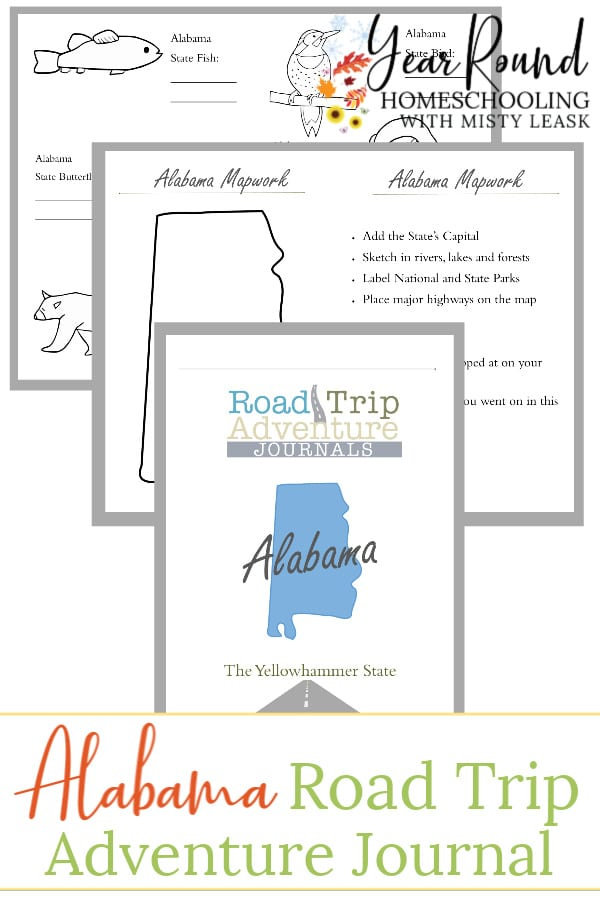 alabama road trip adventure journal, alabama journal, alabama adventure journal, alabama road trip, alabama road trip journal
