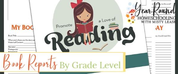 book reports by grade level, grade level book reports, book reports by grade, book reports