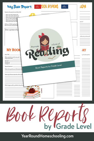 Book Reports by Grade Level Pack