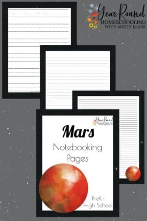 Mars Notebooking Pages Pack