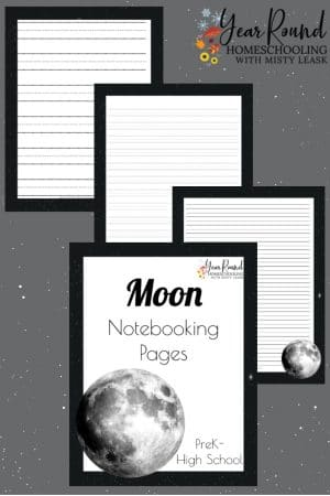 Moon Notebooking Pages Pack