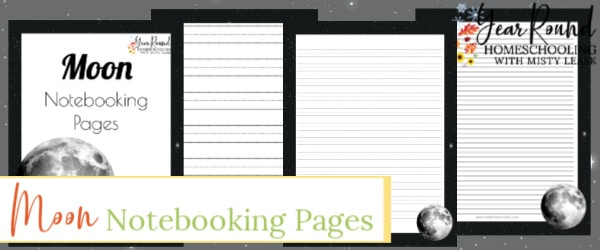 moon notebooking pages, moon notebooking, moon pages