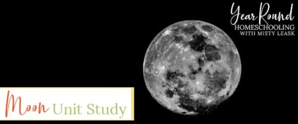 moon unit study, moon study, moon unit