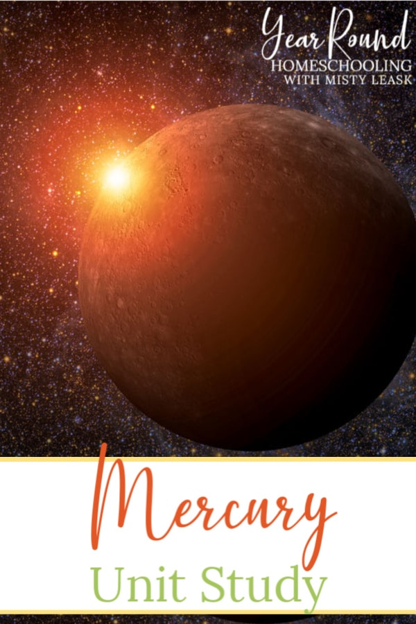 planet mercury unit study, planet mercury unit, planet mercury study