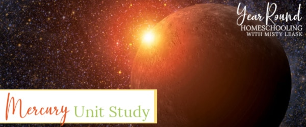 planet mercury unit study, planet mercury unit, planet mercury study