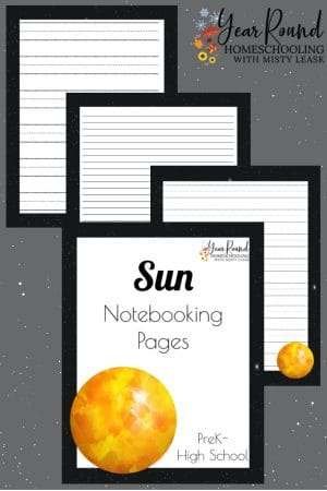 Sun Notebooking Pages Pack