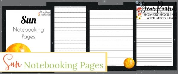 sun notebooking pages, sun notebooking, sun pages