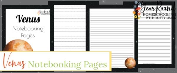 planet venus notebooking pages, planet venus notebooking, planet venus pages, venus notebooking pages, venus notebooking, venus pages