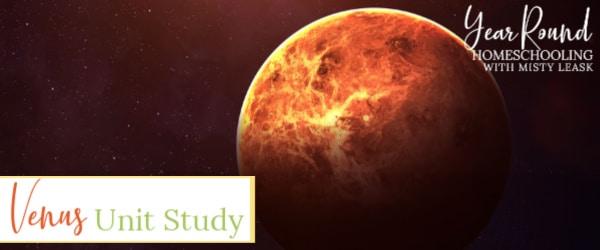 venus unit study, venus study, venus unit, planet venus unit study, planet venus unit, planet venus study
