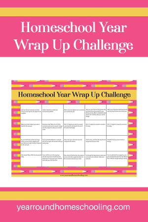 Homeschool Year Wrap-Up Challenge Calendar