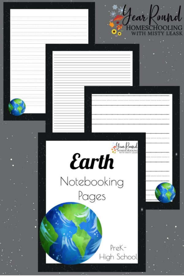 earth notebooking pages, earth notebooking, earth pages