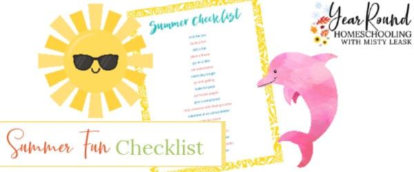 summer fun checklist, fun summer checklist