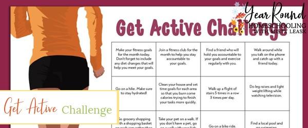 get active challenge calendar, get active challenge, fitness challenge, pe challenge