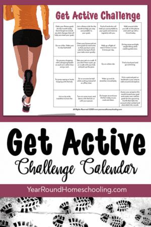 Get Active Challenge Calendar