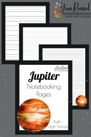 Jupiter Notebooking Pages Pack