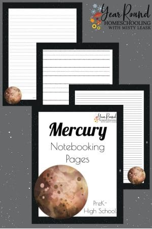Planet Mercury Notebooking Pages Pack