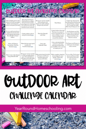 Outdoor Art Challenge Calendar