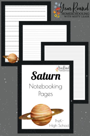 Saturn Notebooking Pages Pack