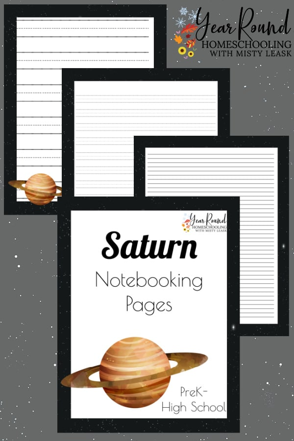 saturn notebooking pages, saturn notebooking