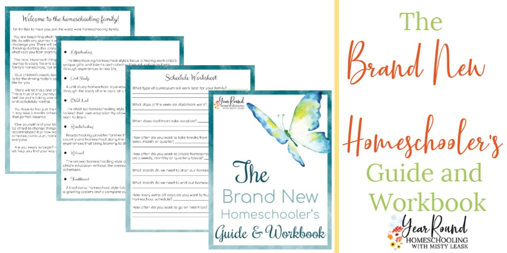 new homeschooler's guide, brand new homeschooler's guide, new homeschool guide, new homeschooler's workbook, brand new homeschooler's workbook