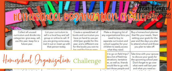 homeschool organization challenge, homeschool organization calendar, homeschool organization challenge calendar, homeschool organization