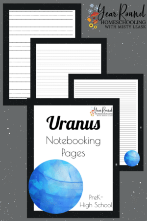 Uranus Notebooking Pages Pack