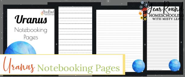 uranus notebooking pages, uranus notebooking