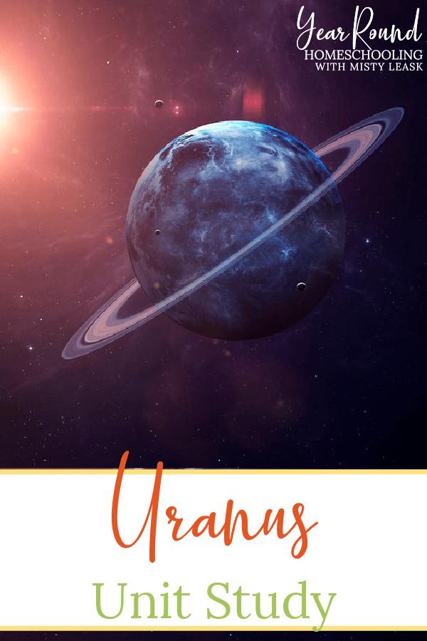 uranus unit study, uranus study, uranus unit
