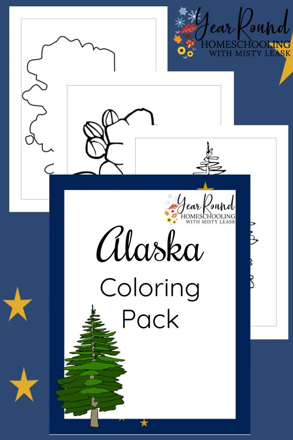alaska coloring pages, alaska coloring pack, alaska coloring