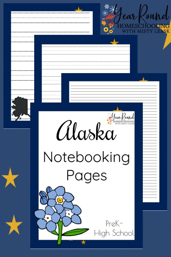 alaska notebooking pages, alaska notebooking