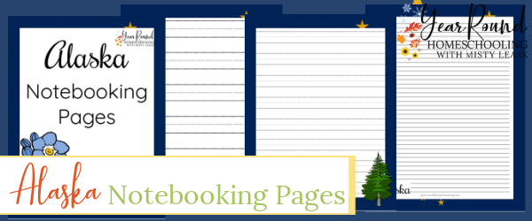 alaska notebooking pages, alaska notebooking