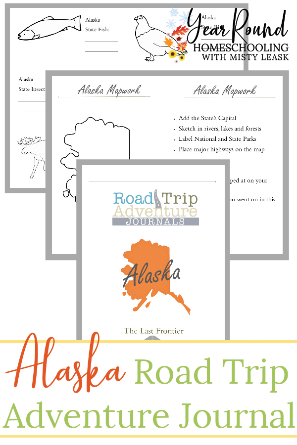 alaska road trip, alaska road trip journal, alaska road trip adventure journal