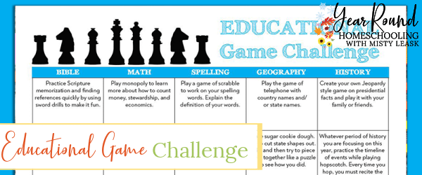educational games challenge, educational games calendar, educational games challenge calendar