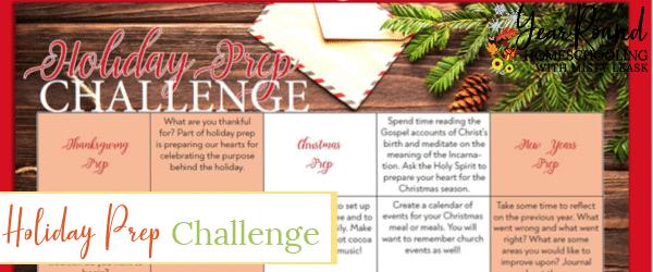 holiday prep challenge, holiday challenge, holiday preparation, holiday preparation challenge