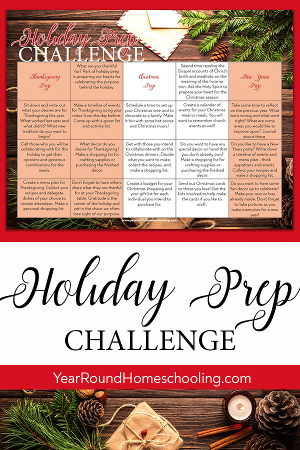 holiday prep challenge, holiday challenge, holiday preparation, holiday preparation challenge