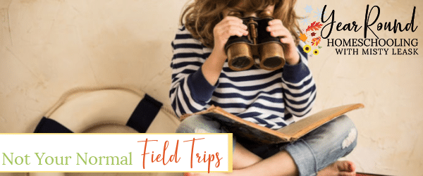 field trips, not your normal field trips, homeschool field trips, field trip ideas