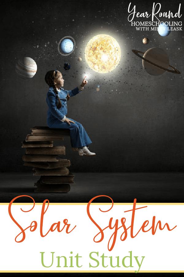 solar system unit study, solar system unit, solar system study