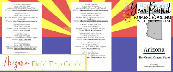 arizona field trip guide, field trip arizona guide