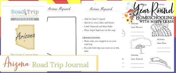arizona road trip, arizona road trip journal, arizona road trip adventure journal