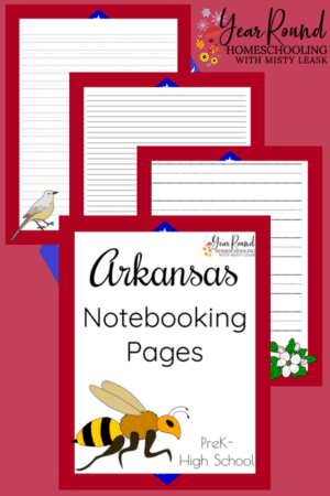 Arkansas Notebooking Pages Pack