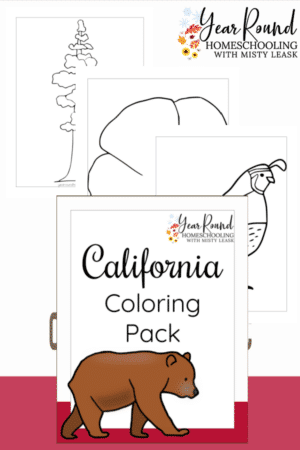 California Coloring Pages Pack
