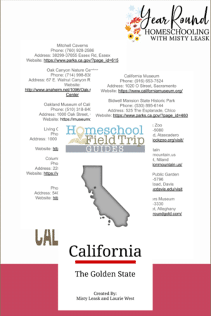 Digital California Field Trip Guide