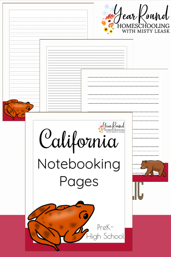 california notebooking pages, california notebooking