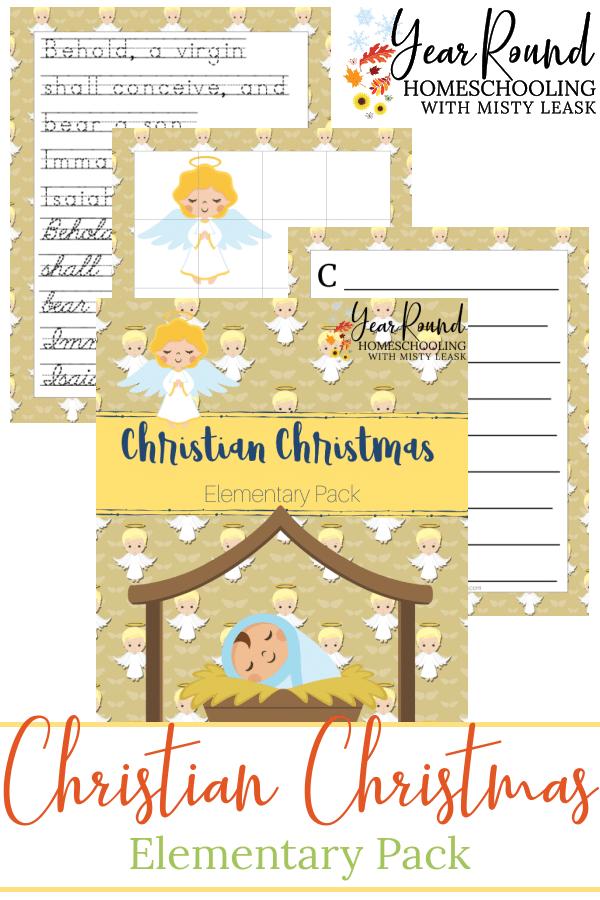 Christian Christmas Elementary Pack, Christian Christmas Elementary, Elementary Christian Christmas