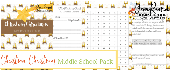 Middle School Christian Christmas, Christian Christmas Middle School, Christian Christmas Middle School Pack