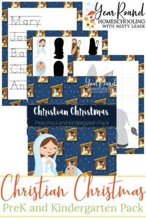Christian Christmas PreK/K Pack