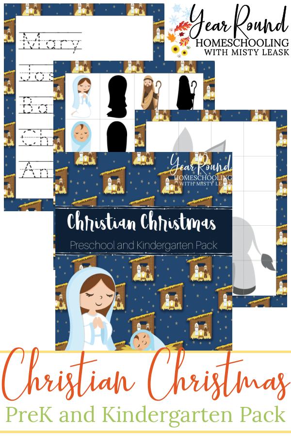 Christian Christmas PreK Pack, Christian Christmas Preschool Pack, Christian Christmas Preschool Pack, Christian Christmas Pack