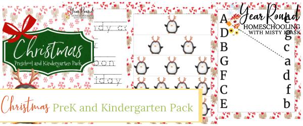 Christmas PreK and Kindergarten Pack, Christmas PreK Pack, Christmas Preschool Pack, Christmas Kindergarten Pack